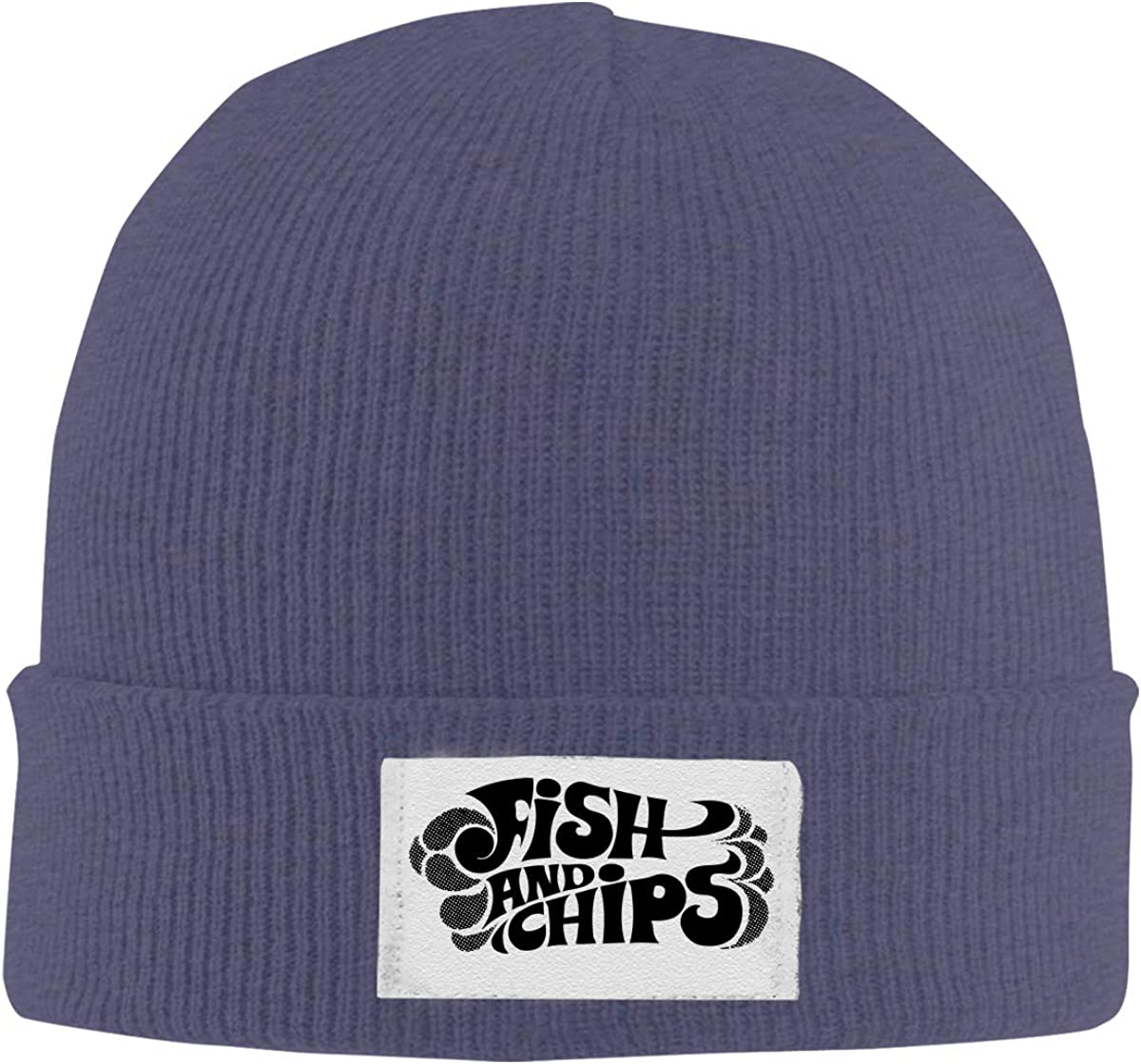 Paller Fish and Chip Knitted Hat Winter Outdoor Hat Warm Beanie Caps for Men Women