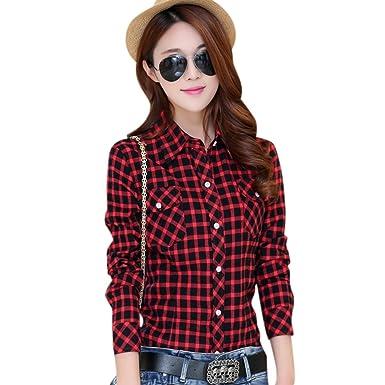 Velvet Thick Women Flannel Plaid Shirt Long Sleeve Cotton Blouse