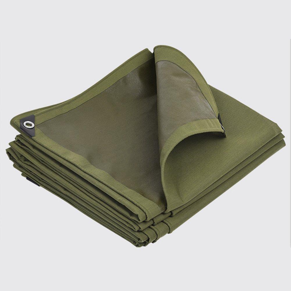 QIANGDA オーニング テント増粘 ターポリン アウトドア 防水 掛け布団 防風 動物を保護する 寒い 耐腐食性 -600g/M 2、厚さ0.7mm、アーミーグリーン、 サイズはカスタマイズ可能です (サイズ さいず : 2 x 2m) B078W6T9RH 16527 2 x 2m  2 x 2m