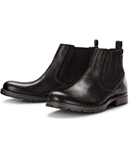 best choice another chance reputable site JACK & JONES Herren Lederstiefel JfwRUSSEL Schnürboot Boots ...