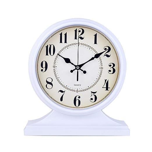 Sooiy Gran Reloj de Mesa Reloj de Mesa de Escritorio del ...