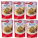 Pack of 6 - Betty Crocker Muffin Mix Blueberry Makes 6 Muffins 6.5 oz Pouch, 6.5 OZ