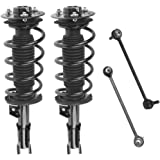 Detroitaxle - Pair (2) Front Driver & Passenger Side Complete Strut & Spring Assembly with (2) Sway Bar End Links - Front [ E