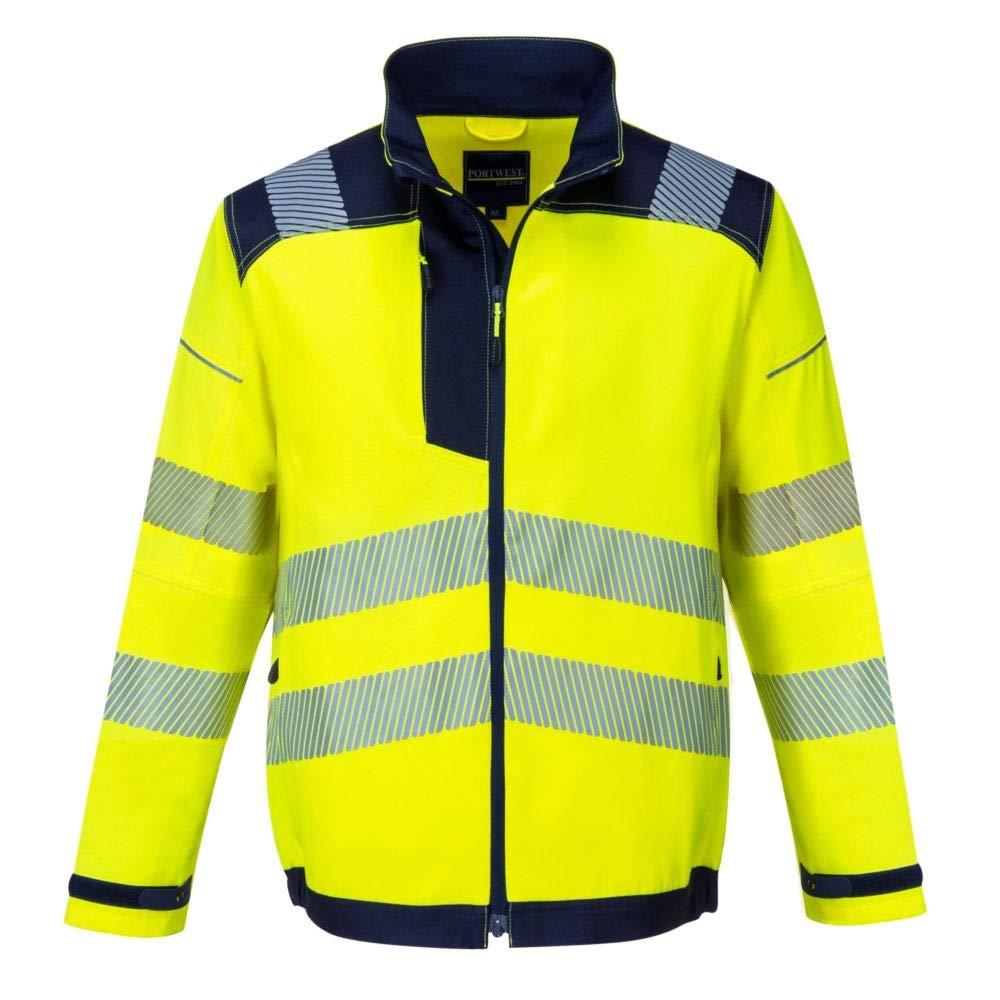 AYKRM t Shirt a Maniche Lunghe Tecnica da Lavoro Alta visibilit/à Arancione Giallo Fluo