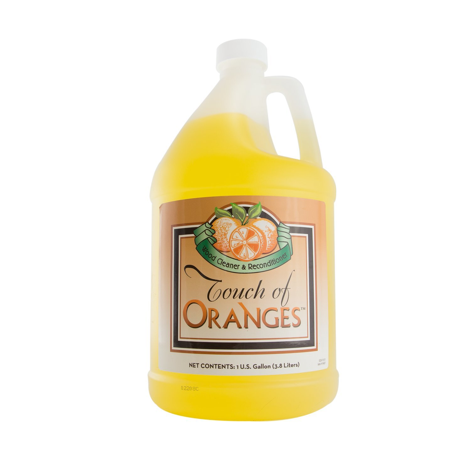 Wood Cleaner and Restorer for Hardwood Floor, Wood Furniture and Wood Cabinet Cleaner with Orange Oil (Gallon) by Touch Of Oranges