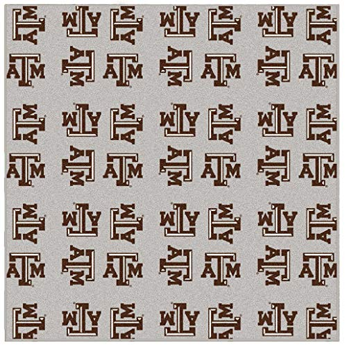 (Ambient Rugs NCAA My Team College Repeating Rug Texas A&M - 12' Square)