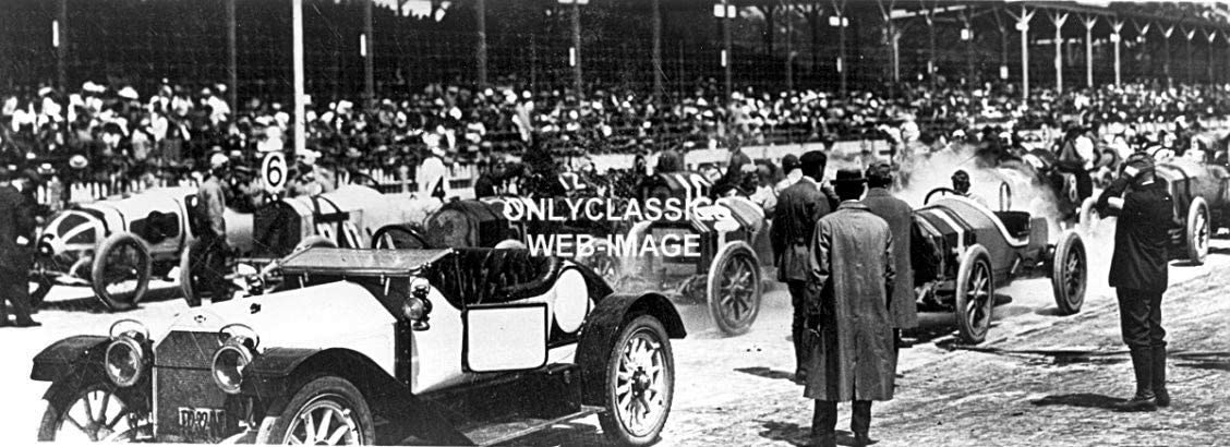 OnlyClassics Vintage INDY 500 Speedway AUTO Racing CAR 10-4x11 Panoramic Photos HOT Rod Racer