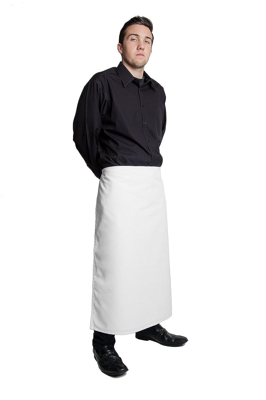 White apron for lab - Amazon Com Fiumara Apparel Professional Bar Apron Poly Cotton White 33 L X 28 W Made In Usa Home Kitchen