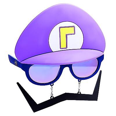 Costume Sunglasses Super Mario Purple Waluigi Sun-Staches Party Favors UV400: Toys & Games