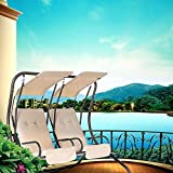 2 Person Outdoor Swing Seat Patio Hammock Furniture Bench Yard W/Canopy US M7R0 (item_by#outletestore; TRYK231191943534355