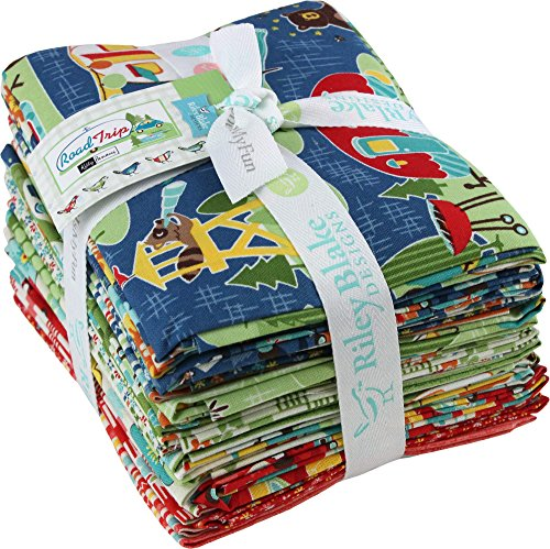 Kelly Panacci Road Trip 18 Fat Quarters Riley Blake Designs FQ-5620-18 by Riley Blake Designs