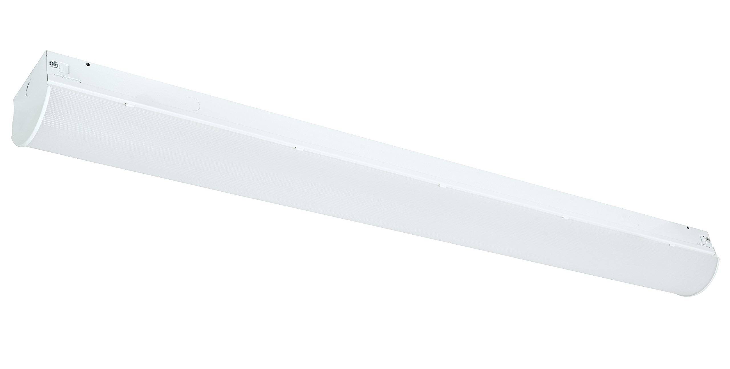 Westgate Lighting LED Indoor 4FT 40W Strip Light- Steel Base Housing- 120-277V AC- Ceiling Mounted- ROHS compliant- DLC Approved- Dimmable (5000K White)