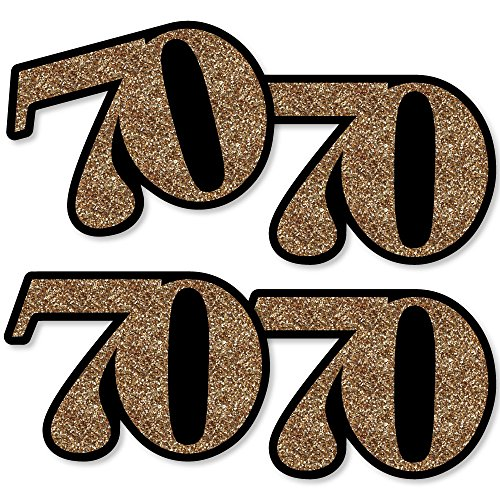 Adult 70th Birthday - Gold - Decorations DIY Party Essentials - Set of 20