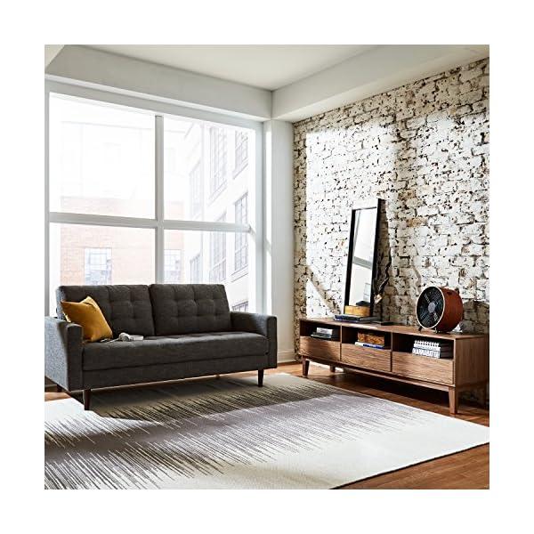 "Rivet Cove Mid-Century Tufted Sofa, 71.7""W, Dark Grey 4"