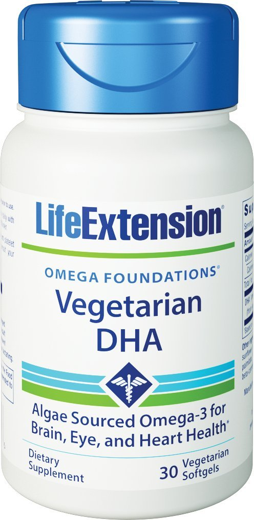 Life Extension Vegetarian Sourced DHA 200 Mg, 30 softgels