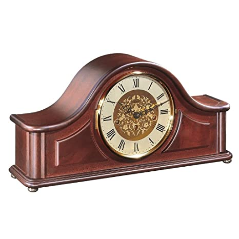 Mechanical chiming mantel clock