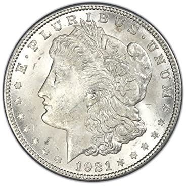 1921 Morgan Silver Dollar Gem Brilliant Uncirculated (BU) Condition