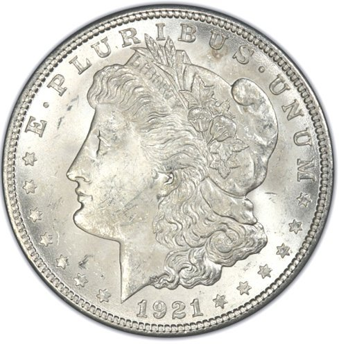 1921 Morgan Silver Dollar Gem Brilliant Uncirculated (BU) Condition Set Uncirculated
