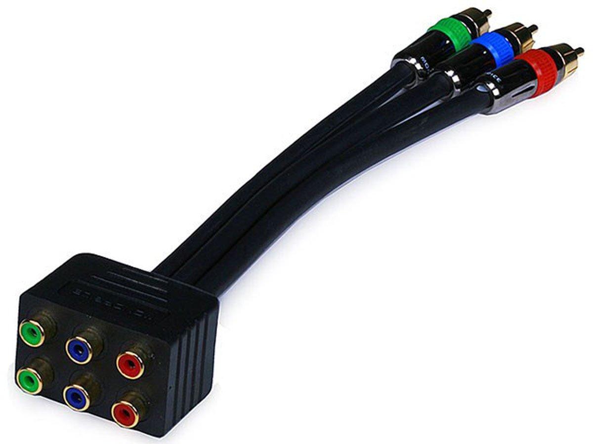 Monoprice 102899 PREMIUM 3-RCA RGB RG-6/u Component Video Splitter (102899)