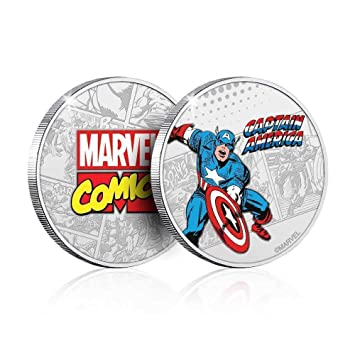 Amazon.com: Moneda coleccionable de Marvel Capitán América ...