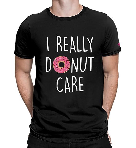 0cbe9803 Graphic Printed T-Shirt for Men & Women | I Donut Care Tshirt | Donut