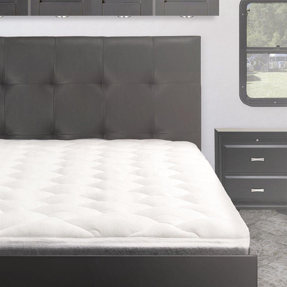 Bamboo From Rayon Overfilled Pillow Top RV Mattress Pad, RV/Camper Mattress Topper, Short Queen by Cardinal & Crest