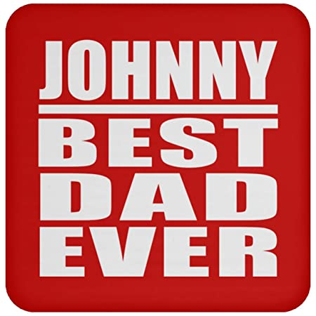 Johnny Best Dad Ever - Drink Coaster Red Posavasos para ...