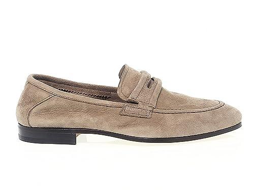 Men's FU8480BEIGE Beige Suede Loafers