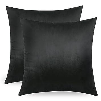 MIULEE Pack de 2, Terciopelo Suave Juego de Mesa de Manta de decoración Cuadrado Fundas de Almohada Funda de cojín para sofá Dormitorio Coche 18 * 18 ...
