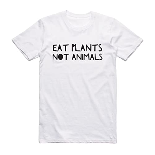 Funny Vegan Present Eat Plants Not Animals Black White Female Male