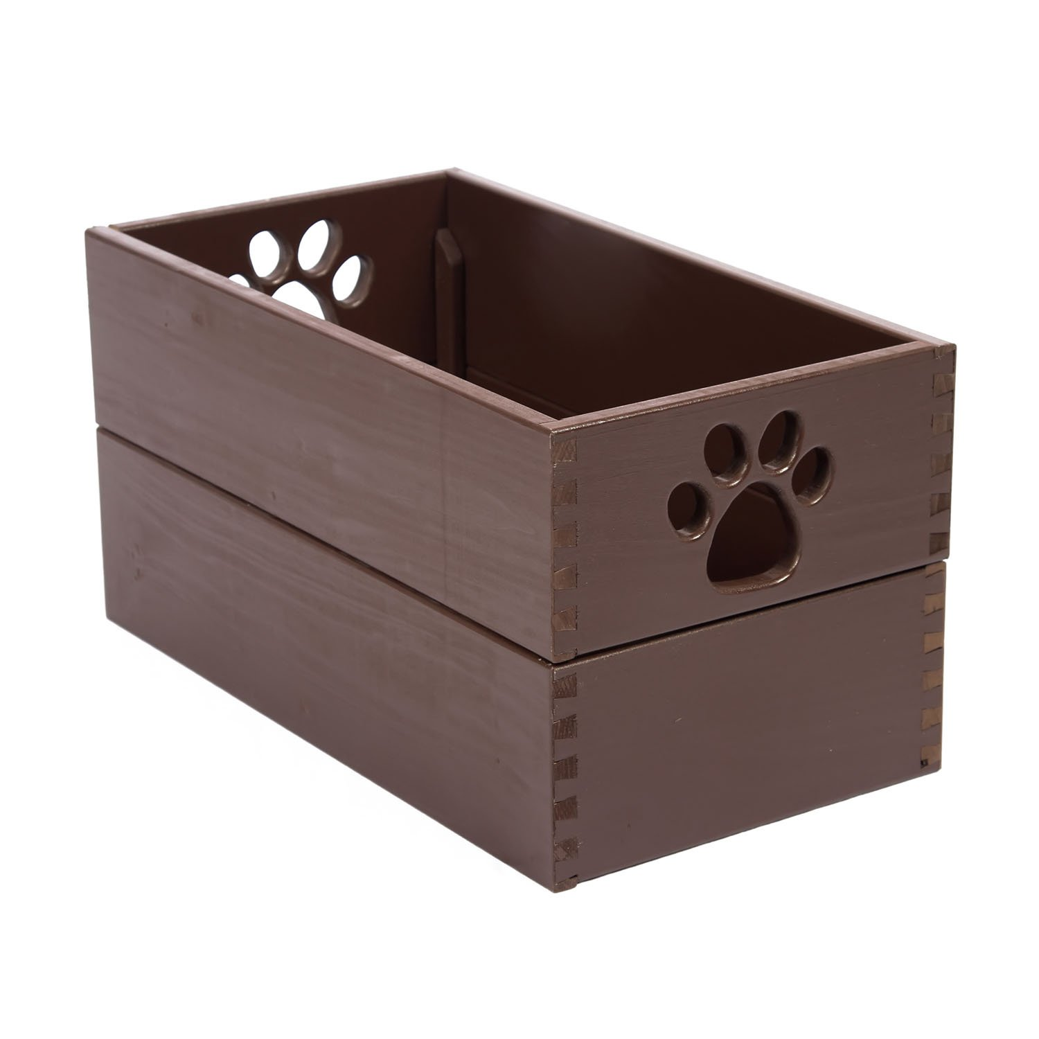 Amazon.com : Dynamics Home Indoor Wooden Dog Essential Doll Storage Bin  Organizer Pet Toy Box Mahogany : Pet Supplies