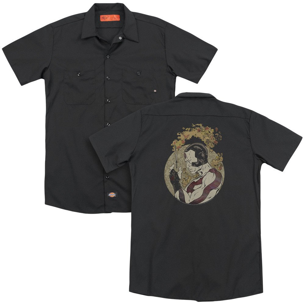 Rai Japanese Print Adult Work Shirt