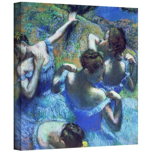 Art Wall Blue Dancers' Gallery-Wrapped Canvas Artwork by Edgar Degas, 18 by 18-Inch by Art Wall
