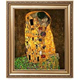 DECORARTS - The Kiss, by Gustav Klimt. Giclee Print& Museum Quality Framed Art for Wall Decor. 20x24, Frame Size: 26x30