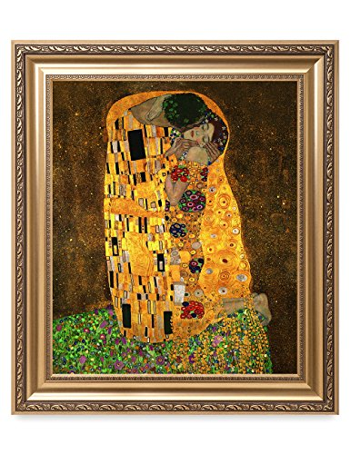 DECORARTS - The Kiss by Gustav Klimt. The World Classic Art Reproductions. Giclee Print with Matching Museum Frame. 20x24, Finished Size: 26x30 ()
