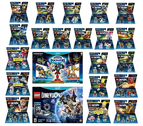 Skylanders Imaginators Starter Pack + Lego Dimensions Starter Pack + The Simpsons Homer + Scooby Doo + Portal 2 + Jurassic World + Back To The Future + 14 Fun Packs Nintendo Wii U Console by WB Lego