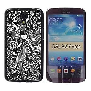 Be Good Phone Accessory // Dura Cáscara cubierta Protectora Caso Carcasa Funda de Protección para Samsung Galaxy Mega 6.3 I9200 SGH-i527 // Love Nature Pen Art Leaves Ink