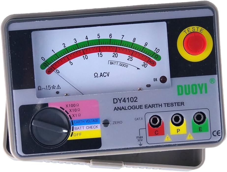 Duoyi Dy4102 Multimeter Tester Elektrisches Instrument Analog Erdungsmessgerät Tester Erde Tester Baumarkt