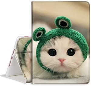 """TOMYOU iPad 10.2 Case 2020 iPad 8th Generation Case / 2019 iPad 7th Generation Case, Slim Stand Soft Back Shell Protective Smart Cover for 10.2"""" iPad 8 / iPad 7 - Frog & Kitten"""