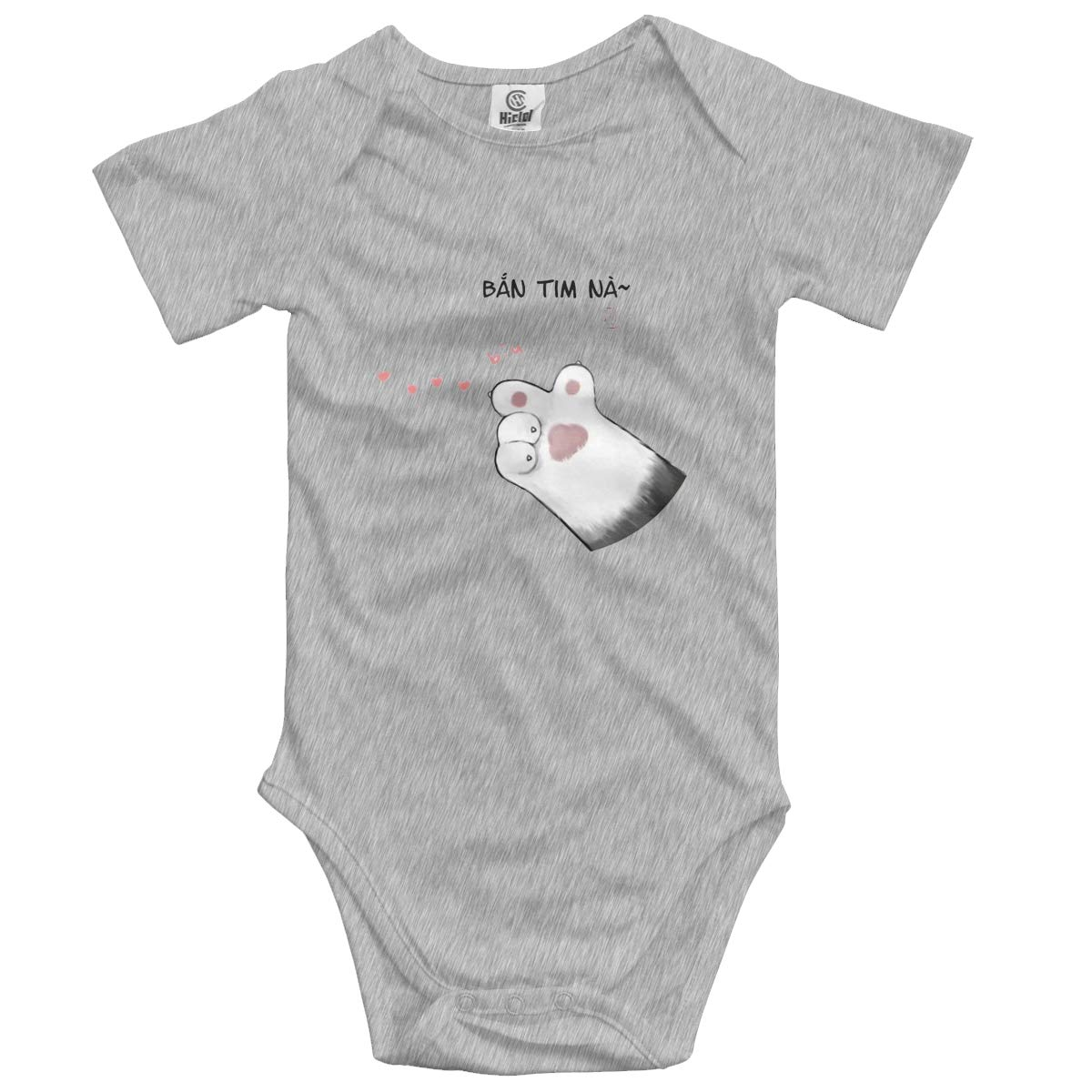 Cat Launches Love Baby Romper 0-18 Months Newborn Baby Girls Boys Layette Rompers Black