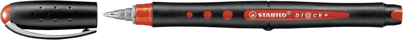 Tintenroller medium schwarz STABILO bl@ck 10er Pack
