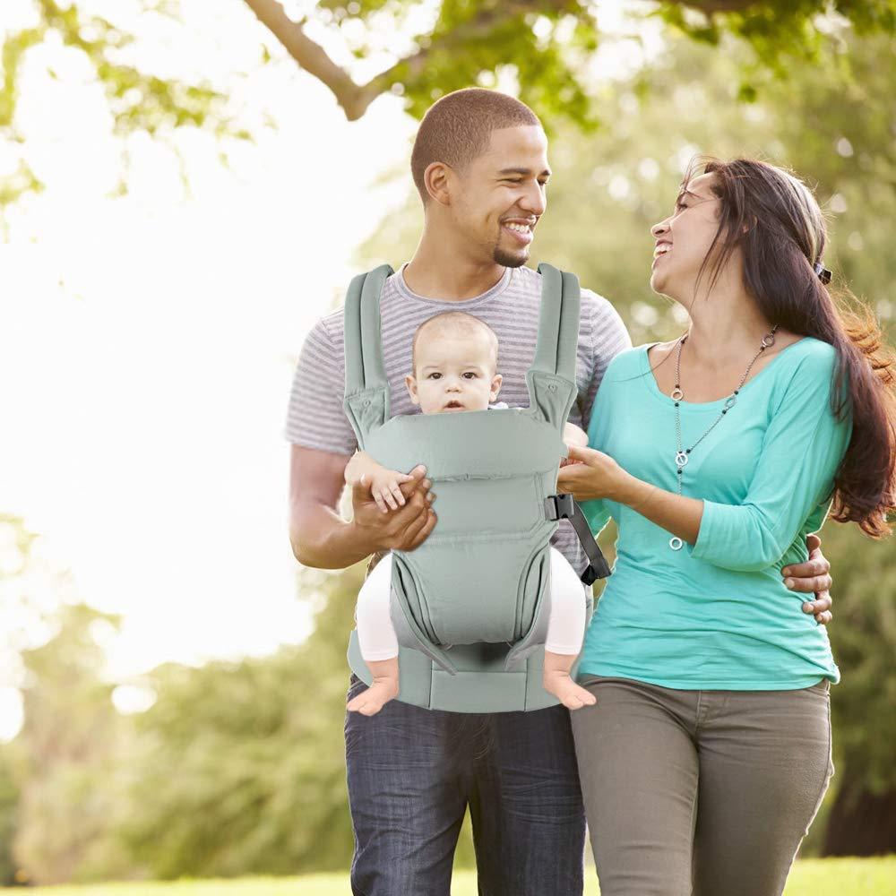 3,5-20kg Hommie Ergonomische Babytrage mit 3 Positionen weiche verstellbare Kindertrage f/ür Neugeborene bis Kleinkind Gr/ün