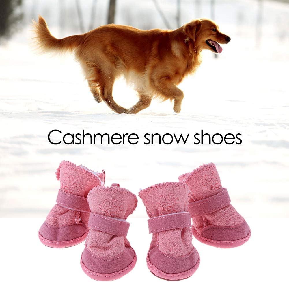 BOxinkk hundeschuhe Winter,4 St/ück hundesocken Anti rutsch wasserdicht,hundesocken mit Klettverschluss,pfotenschutz Hund verletzung,pfotenschutz Hund wasserdicht