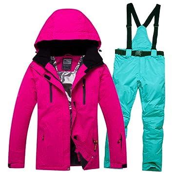 BSSDG Traje de Nieve Traje de esquí Hombres Abrigo Impermeable de ...