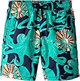 Vilebrequin Kids Boy's Octopussy and Coquillages Swim Trunk (Big Kids) Turquoise 12 Years