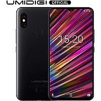 "UMIDIGI F1 Mobile Phones Unlocked Android 9.0 6.3"" FHD+ 128GB ROM 4GB RAM Helio P60 5150mAh Big Battery 18W Fast Charge Smartphone NFC 16MP+8MP Phone' (Black)"