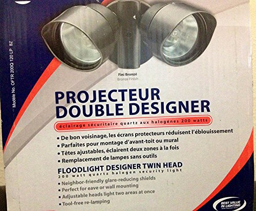 Lithonia Lighting Twin Head Designer Floodlight