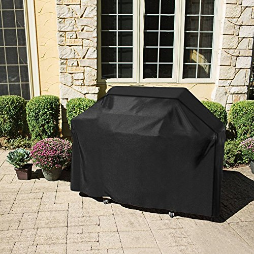 Eyourlife Grill Cover, 67-inch 600D Heavy Duty Gas Grill Mats, Waterproof BBQ Mats for Weber, Holland, Jenn Air, Brinkmann and Char (Bbq Grill Cover Standard)