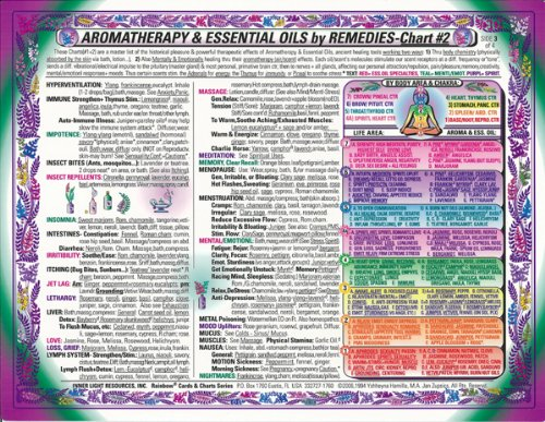 AROMAtherapy & Essential Oils REMEDIES-CHART #2 of 2, by Inner Light Resources (Detox Bath Book)