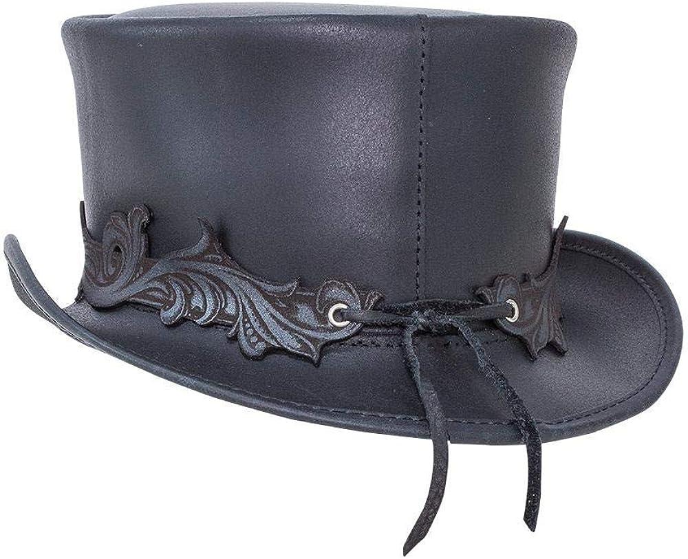 Voodoo Hatter El Dorado-Fleur De Lis Band by American Hat Makers Leather Top Hat